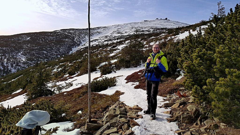 Sbocze Czarnej Góry ze Śnieżką w tle