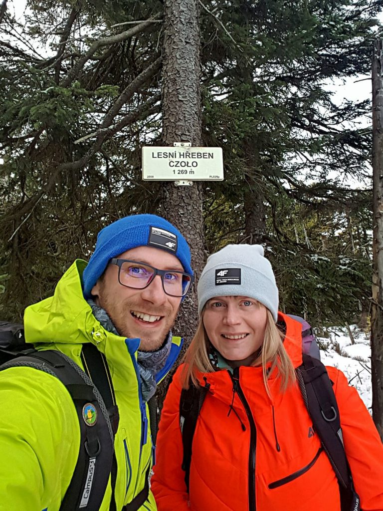 Po drodze na Śnieżkę zdobywamy szczyt Czoło