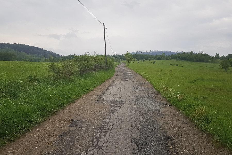 GSS dzień 6. Trasa Lądek-Zdrój - Międzygórze. Droga asfaltowa.